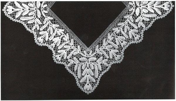 Русское кружево. Оплёт носового платка. 1880-е годы