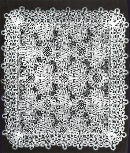 Русское кружево. К.И.Мохова. Салфетка. 1938