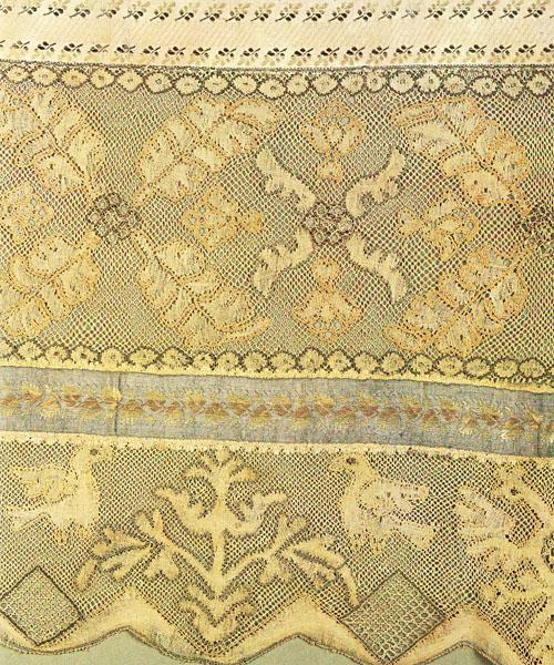 Русское кружево. Конец полотенца. Конец XVIII века.
